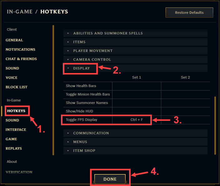 Show Ping in League